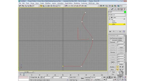 Using the Outline command: 3ds Max 9 Modeling
