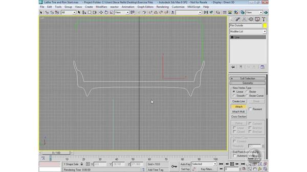 Creating the tire and rim shapes: 3ds Max 9 Modeling