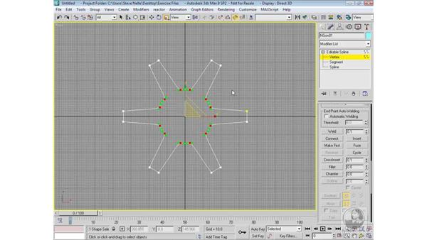 Building the inside rim: 3ds Max 9 Modeling