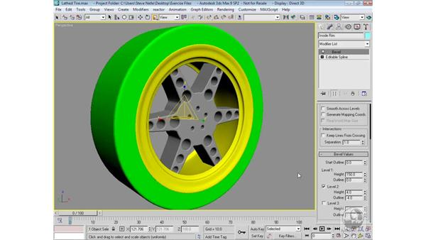 Finalizing the tire and rim: 3ds Max 9 Modeling
