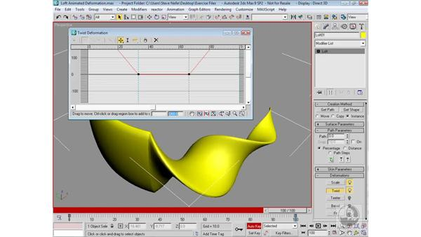 Animating loft deformations: 3ds Max 9 Modeling