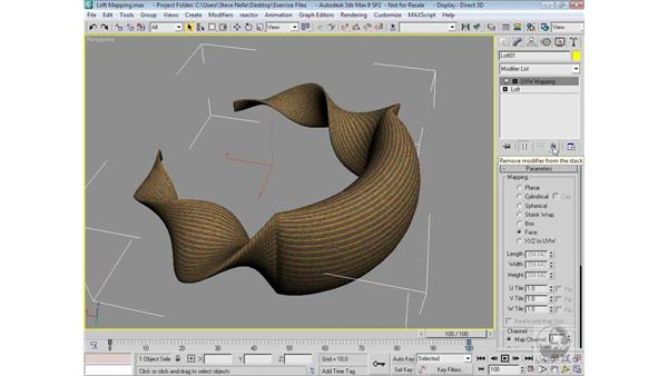 Mapping a lofted object: 3ds Max 9 Modeling