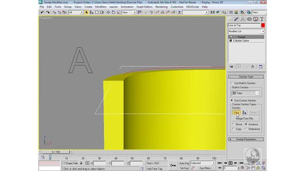 The Sweep Modifier: 3ds Max 9 Modeling