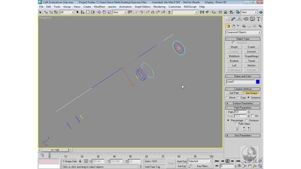 Lofting multiple shapes: 3ds Max 9 Modeling