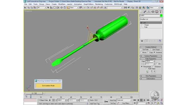 Finalizing the screwdriver: 3ds Max 9 Modeling