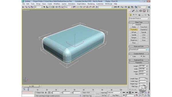 Creating basic geometry: 3ds Max 9 Modeling