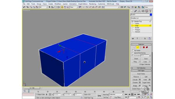 Sub-object edge commands: 3ds Max 9 Modeling