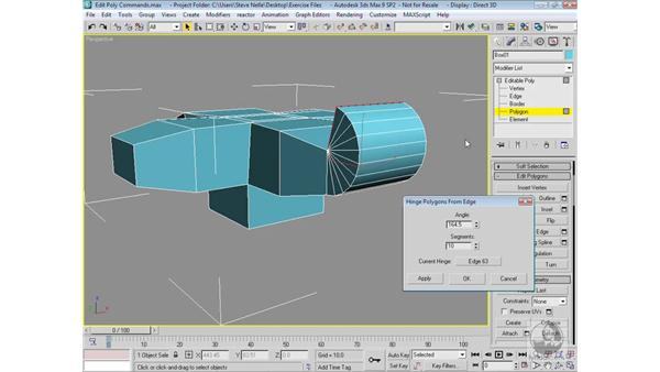 Sub-object polygon commands: 3ds Max 9 Modeling