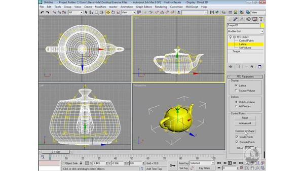 FFD (freeform deformation): 3ds Max 9 Modeling