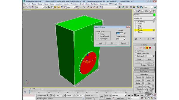 ShapeMerge: 3ds Max 9 Modeling