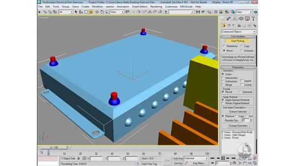 Combining multiple Boolean operations: 3ds Max 9 Modeling