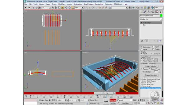 Animating the Boolean: 3ds Max 9 Modeling