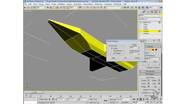 Modeling the nose cone and front intake ports: 3ds Max 9 Modeling