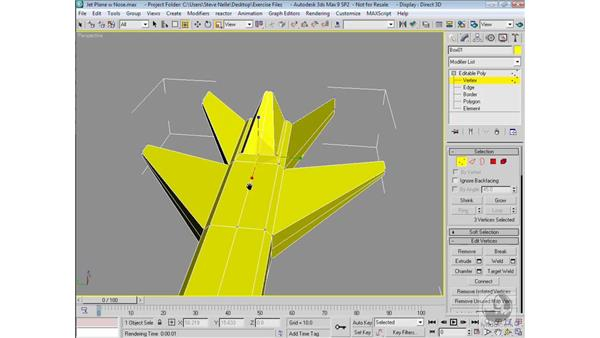 Modeling the tail and exhaust ports: 3ds Max 9 Modeling