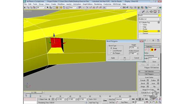 Modeling the wing intake ports: 3ds Max 9 Modeling