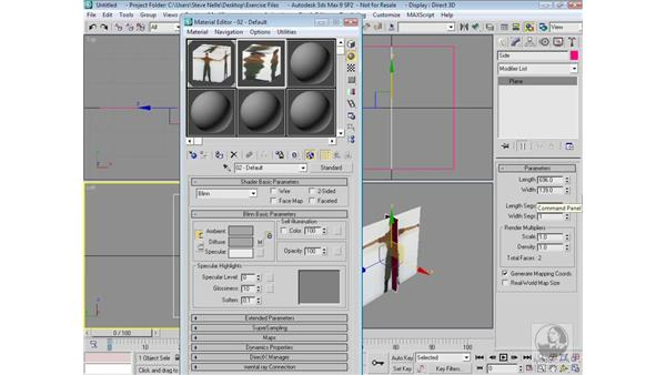 Setting up the reference image planes: 3ds Max 9 Modeling