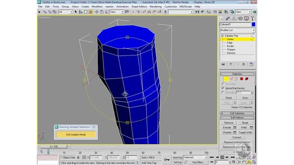 Modeling the pants: 3ds Max 9 Modeling
