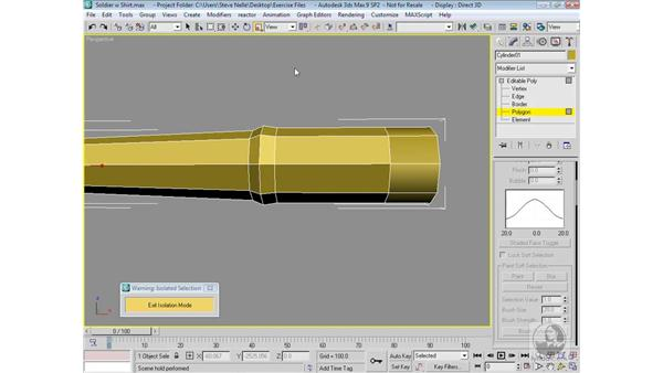 Modeling the arm: 3ds Max 9 Modeling