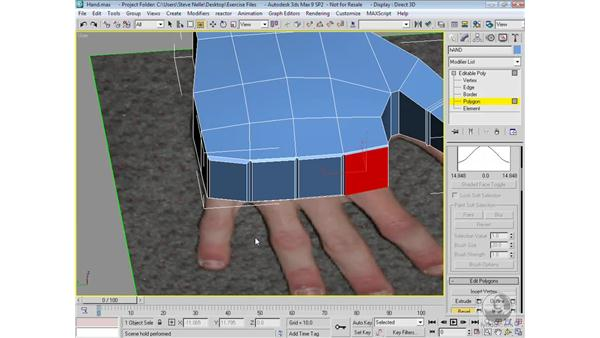 Modeling the hand: 3ds Max 9 Modeling
