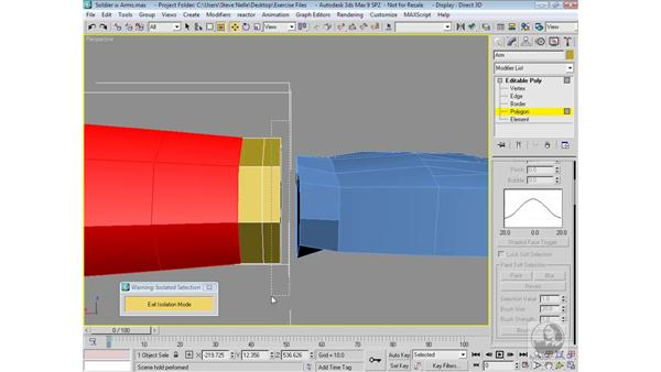Attaching the hand: 3ds Max 9 Modeling