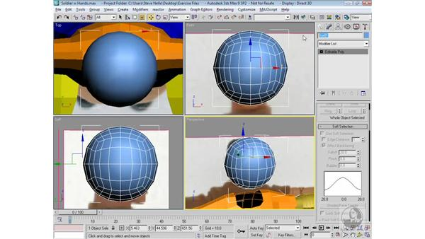 Roughing out the head: 3ds Max 9 Modeling