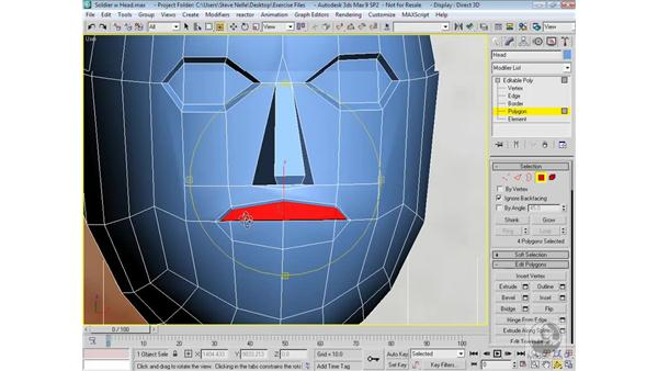 Adding detail to the head: 3ds Max 9 Modeling