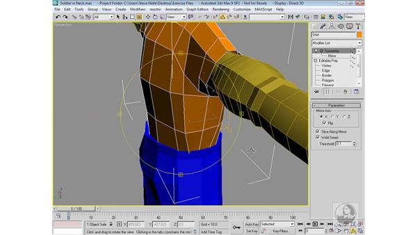 Finalizing the character: 3ds Max 9 Modeling