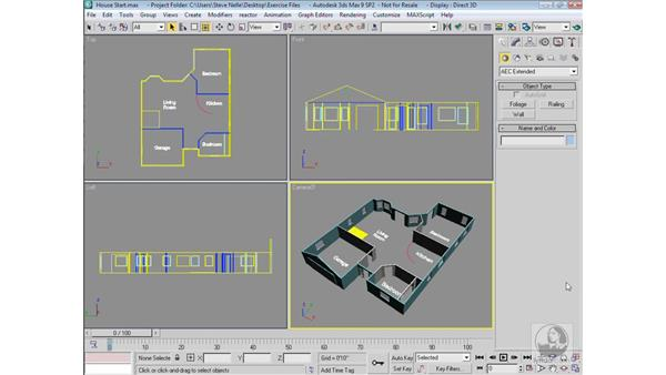 Creating walls   : 3ds Max 9 Modeling