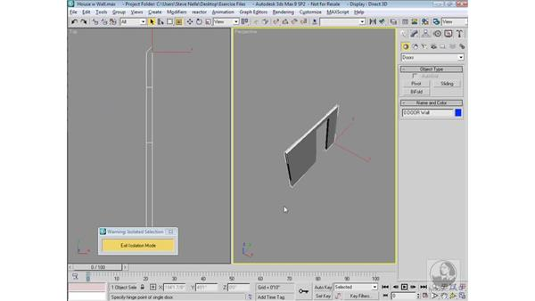 Creating doors: 3ds Max 9 Modeling