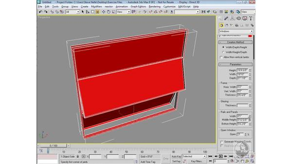 Creating windows: 3ds Max 9 Modeling