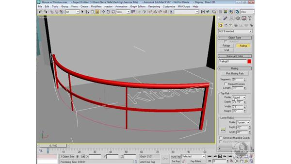 Creating railing: 3ds Max 9 Modeling