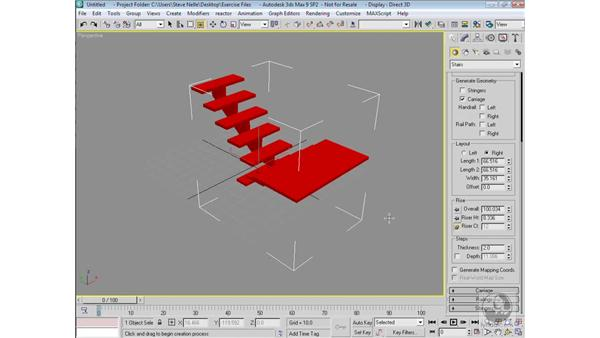 Creating stairs: 3ds Max 9 Modeling