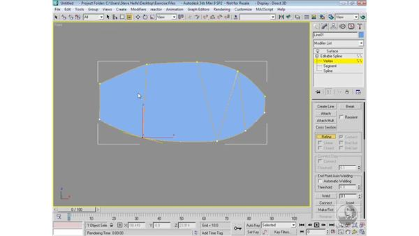 Working with patch splines: 3ds Max 9 Modeling