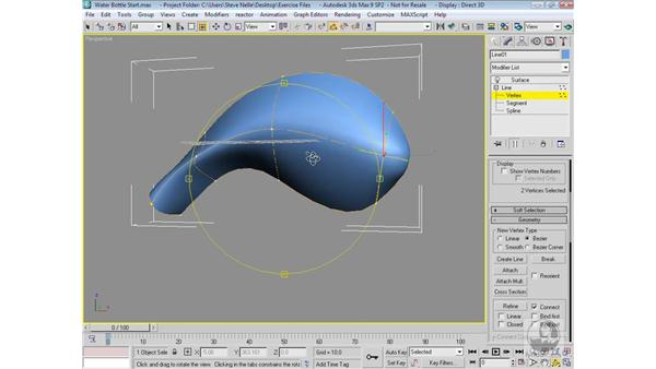 Creating and editing patch surfaces: 3ds Max 9 Modeling