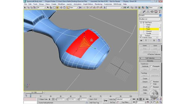 Adding detail to the fuselage: 3ds Max 9 Modeling