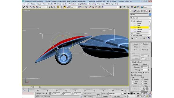 Adding detail to the wing: 3ds Max 9 Modeling