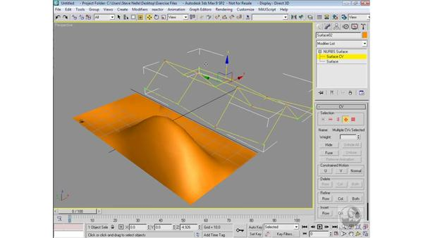 Creating NURBS surfaces: 3ds Max 9 Modeling