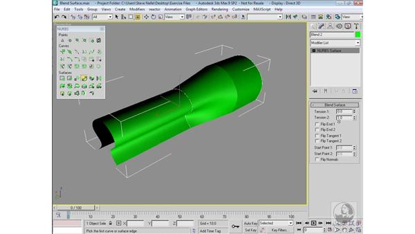 NURBS blends and fillets: 3ds Max 9 Modeling