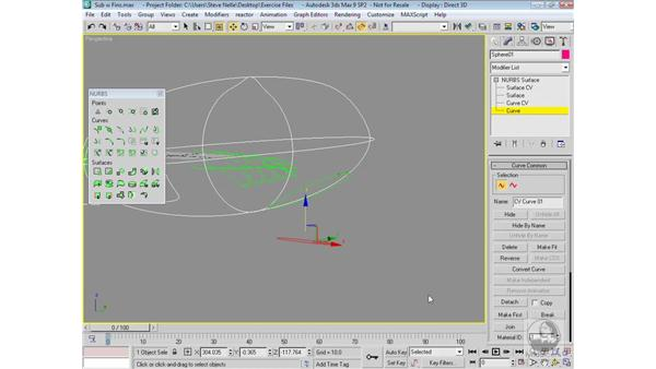 Modeling the tail: 3ds Max 9 Modeling