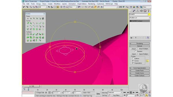 Modeling the antennae: 3ds Max 9 Modeling