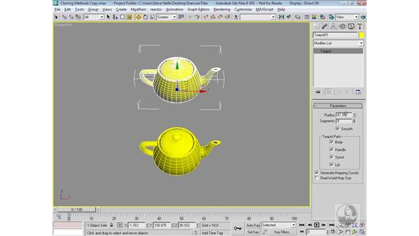 Copying objects: 3ds Max 9 Modeling