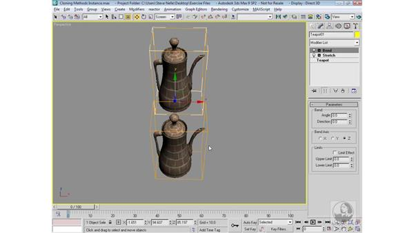 Instancing objects: 3ds Max 9 Modeling