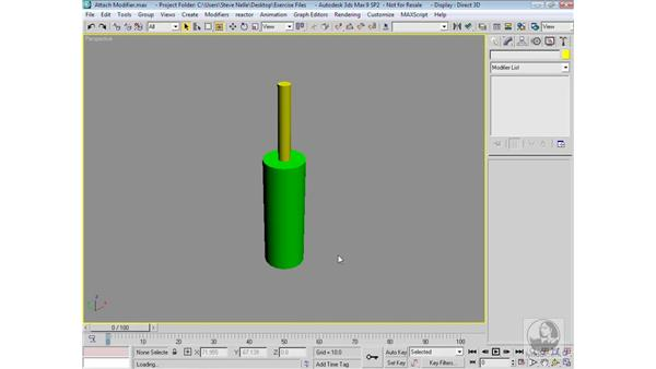 Attaching objects: 3ds Max 9 Modeling
