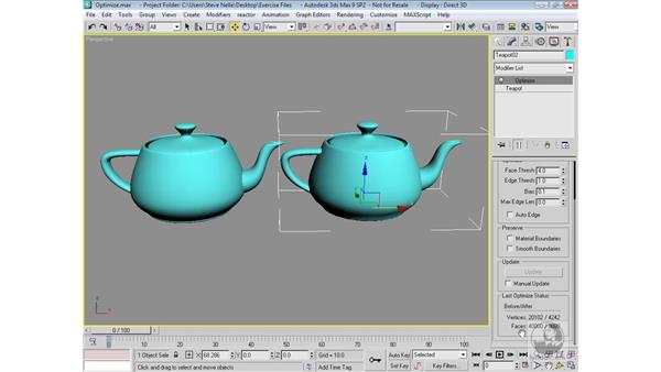 The Optimize Modifier: 3ds Max 9 Modeling