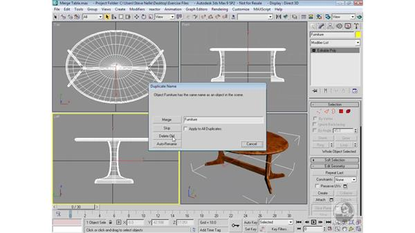 Merging 3ds Max files: 3ds Max 9 Modeling