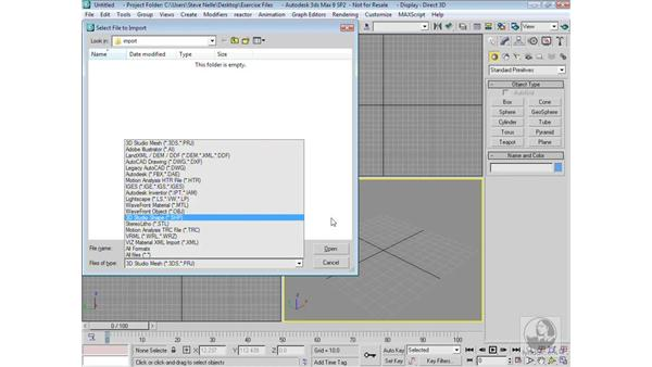 Importing other wireframe file formats: 3ds Max 9 Modeling
