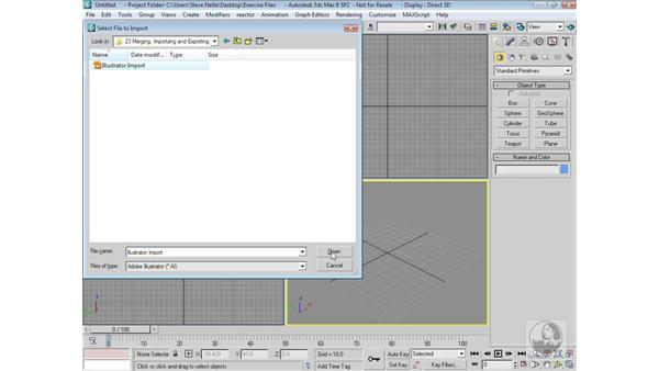 Importing Illustrator files: 3ds Max 9 Modeling