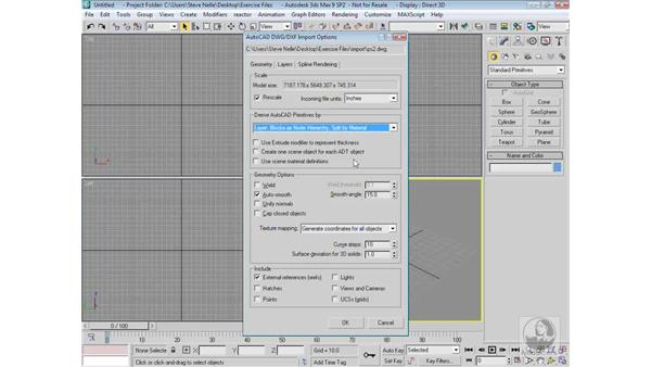 Importing CAD files: 3ds Max 9 Modeling
