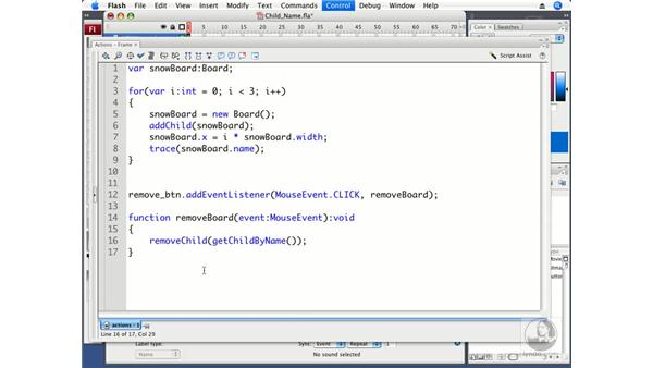 Referencing a Display Object by name: ActionScript 3.0 in Flash CS3 Professional Beyond the Basics