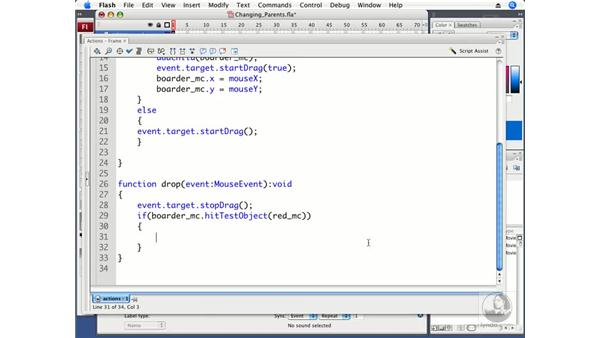 Using addChild to change parents: ActionScript 3.0 in Flash CS3 Professional Beyond the Basics